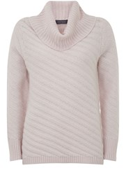 Mint Velvet Powder Rib Stitch Knit Pastel Pink