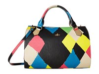 Vivienne Westwood Painted Argyle Oversized Boston Multi Handbags