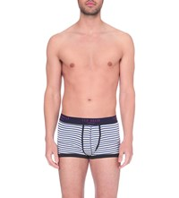 Ted Baker Striped Stretch Cotton Boxers White