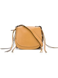 Coach Fringed Saddle Bag Brown