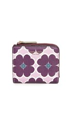 Kate Spade New York Sylvia Graphic Clover Small Bifold Wallet Orchid Multi