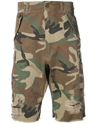 R 13 R13 Camouflage Shorts Brown