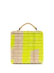 Natasha Zinko Straw Structured Box Bag Yellow