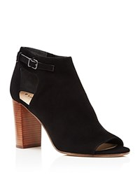 Via Spiga Giuliana High Heel Peep Toe Booties Black