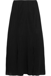 Theory Swind Silk Chiffon Midi Skirt