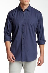 Toscano Blue Houndstooth Regular Fit Shirt