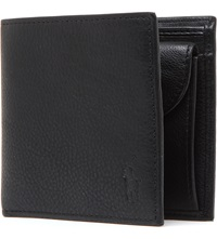 Ralph Lauren Pony Embossed Pebbled Leather Coin Wallet Black