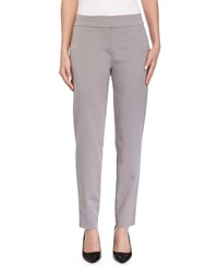 Escada Tapered Leg Cropped Pants Platinum White