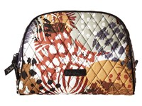 Vera Bradley Large Zip Cosmetic Painted Feathers Cosmetic Case Multi