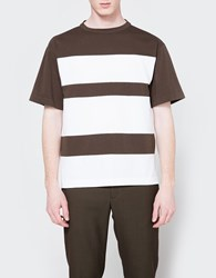 Marni Wide Stripe Tee Military White