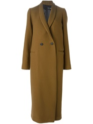 Isabel Benenato Long Coat Brown