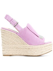 Sergio Rossi Wedged Sandals Pink And Purple