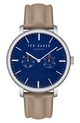 Ted Baker London Trent Leather Strap Watch 43Mm