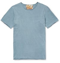 By Walid Cotton Jersey T Shirt Storm Blue