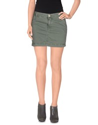 Roy Rogers Roy Roger's Choice Skirts Mini Skirts Women Military Green