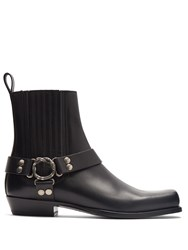 Gucci Stanley Leather Ankle Boots Black