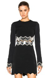 David Koma Embroidered Top In Black