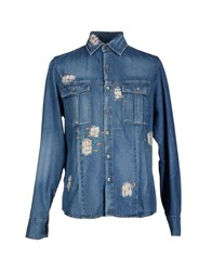 Ermanno Scervino Denim Denim Shirts Men Blue
