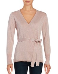 Ivanka Trump Wrap Style Long Sleeved Top Heather Ballet