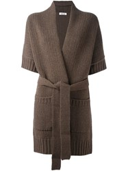 P.A.R.O.S.H. 'Lotto' Cardi Coat Brown