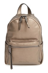French Connection 'Mini Perry' Faux Leather Backpack Grey Pewter