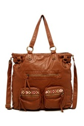 T Shirt And Jeans Tribal Tote Brown
