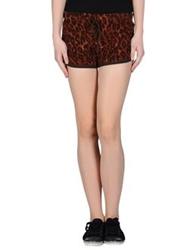 Monica Bianco Sweat Shorts Brown