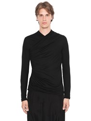Balmain Cotton Drape Long Sleeve T Shirt