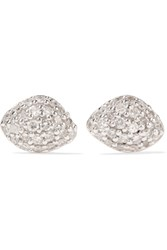 Monica Vinader Nura Rose Gold Vermeil Diamond Earrings One Size