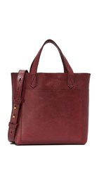 Madewell Mini Pocket Transport Tote Dark Cabernet