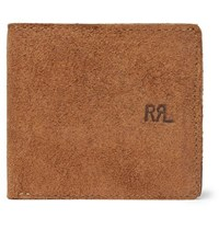 Rrl Ranch Suede Billfold Wallet Brown