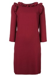 A.P.C. Frill Neck Dress Red