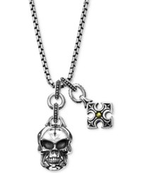 Scott Kay Men's Multi Charm Pendant Necklace In Sterling Silver And 18K Gold