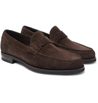 Canali Suede Loafers Brown