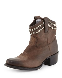Diana Studded Leather Bootie Charcoal Frye