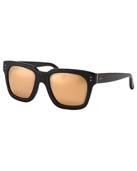 Linda Farrow Thick Rim Square Sunglasses Black