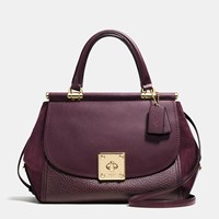 Coach Drifter Carryall In Mixed Leather Light Gold Oxblood