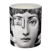 Fornasetti Metafisica Candle Otto Medium Black And White
