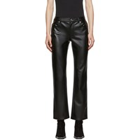 Alexander Wang Black Stretch Faux Leather Trousers