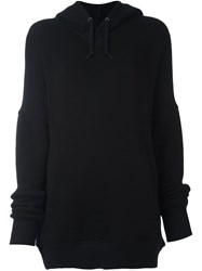 Comme Des Garcons Junya Watanabe Long Fit Hoodie Black