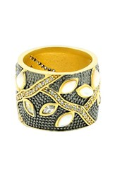 Freida Rothman Women's Fleur Bloom Cigar Band Ring