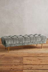 Anthropologie Slub Velvet Mina Bench Slate