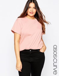 Asos Curve The Ultimate Easy T Shirt Pink
