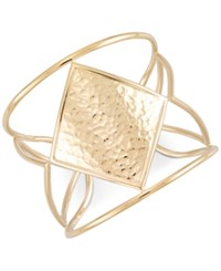 Sis By Simone I Smith I. Hammered Openwork Cuff Bracelet In 14K Gold Over Sterling Silver