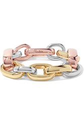 Pomellato Iconica 18 Karat Yellow And Rose Gold And Rhodium Plated Bracelet One Size