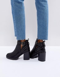Miss Kg Taffy Studded Heeled Ankle Boots Black