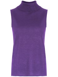 Cecilia Prado Ingla High Neck Top Purple