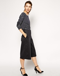 Asos Casual Culotte Trousers Grey