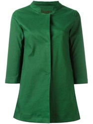 Herno Band Collar Coat Green