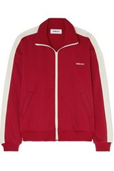 Ambush Striped Satin Jersey Track Jacket Red